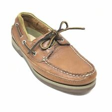 Men's Sperry Top-Sider Mako Boat Shoes Size 7.5 M Brown Leather Casual Moc K2