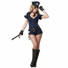 Damen Polizei Kostüm Kleid Polizistin Cop Karneval Fasching Blau S M 36 38