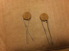 2 Nos Vintage Ceramic Disk .0022 uf 500v Capacitors Crl Treble Bleed Caps