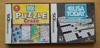 USA Today's Puzzle Craze & Crossword Lot Nintendo DS DS Lite 3DS 2DS Game Works