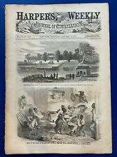 "Harper's Weekly 1-18-1862 WINSLOW HOMER ""The Skating Season"" Richmond, VA, MAP!"