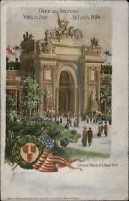 1904 St. Louis World's Fair Lewis & Clark SILVER BACKGROUND Postcard #2