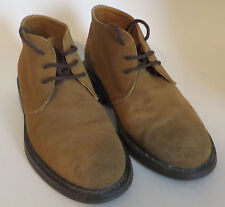 Mens Geox Suede Chukka Boots 40  Leather Tan Shoes  7.5 M