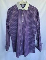 Brooks Brothers French Cuffs Shirt Long Sleeve Men's Sz 16-32 Slim Fit USA Made