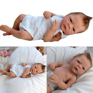 18inch Reborn Baby Dolls Handmade Newborn Doll Full Silicone Body Doll Lifelike