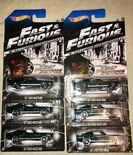 2014 Hot Wheels Fast & Furious '67 Ford Mustang # 4/8 Lot Of 6