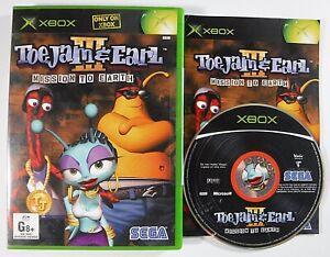 Toe Jam & Earl III Mission To Earth Xbox Original MINT DISC