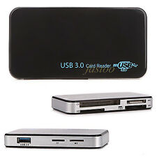 USB 3.0 Super Speed TF CF MS Micro SD Card Reader Multi Smart Memory f. Computer
