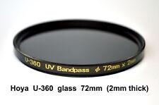 Hoya U-360 72mm x 2mm thick UV-Pass Camera Filter, Ultraviolet, Dual Band IR