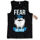 Camiseta De Tirantes - FEAR THE Barba - Tatuaje Retro T-Shirt Talla S M L XL XXL