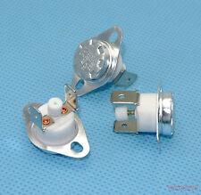 5pcs 150 °C KSD301  NC Manual Reset Bimetal disc thermostat 16A 125VAC