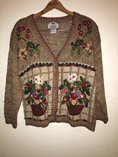 Tiara International Vintage Christmas Women's Cardigan - L PREOWNED
