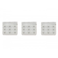 3 rallonges blanc extension soutien gorge 3 crochets, 5,5 x 5 cm astuce lingerie