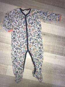 Petit Bateau 2 ans Garcon : Pyjama Babygros Coton Été Jungle TBE