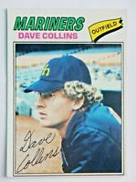 Dave Collins #431 Topps 1977 Baseball Card (Seattle Mariners) VG