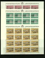 Liechtenstein 1980 Hunting Weapons Set 80r, 90r and 1f10 in complete shee Stamps