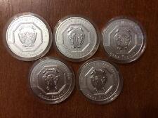 Ukraine 2011-2015 SET Archangel Michael 1 Oz Pure Silver 5 COINS