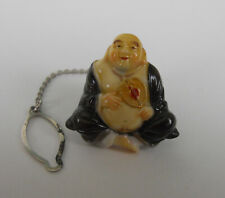 Vintage Toshikane God of Happiness Tie Tack Japan Porcelain Arita NICE!