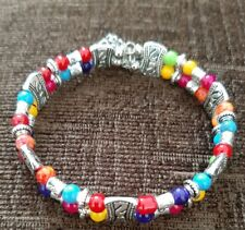 Tibetan Multicolored Beaded Design Fashion Bracelet