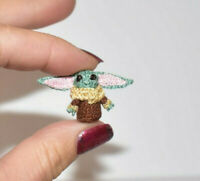 Miniature Yoda baby Ooak Dollhouse Doll Yoda Character Lover Alien Toy Gift