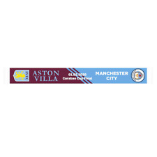 Aston Villa vs Manchester City Adults Carabao Cup Final Football Scarf - New