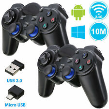 2x Wireless USB 2.4G Game Controller Gamepad Joystick for Android TV Box Tablet