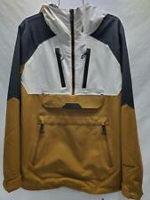 Volcom Brighton Pullover Mens Snowboard Snow Ski Jacket Carmel Black Small NEW