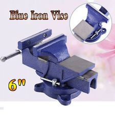 """6"""" Blue Cast Iron Heavy Duty Vise Clamp Milling Metalworking Vice Workshop Tool"""
