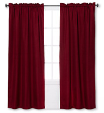 "Braxton Thermaback Blackout Rod Pocket Curtain Panel Eclipse Red 42"" x 84"""