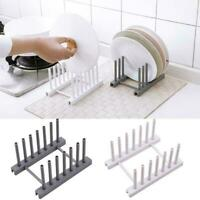 Kitchen Organizer Pot Lid Rack Plastic Spoon Holder Dish Shelf Stand Rack T1Y5