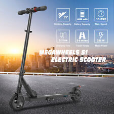 MEGAWHEELS FOLDING ELECTRIC SCOOTER 250W BLACK ALUMINUM E-SCOOTER CITY COMMUTING