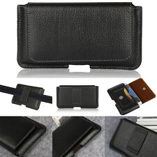 Genuine Holster Belt Clip Pouch Leather Case For Samsung Galaxy S6 S7 Edge S8+