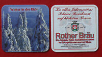 "Rother Bräu  Roth-Rhön  Bierdeckel ""Winter i.d.Rhön""    NEU"