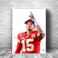 Kansas City Chiefs Patrick Pat Mahomes Canvas - Choose Size (Ready To Hang)