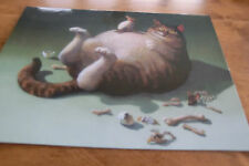Fat Cat Greedy Cat Michael Sowa POSTCARD