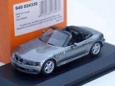Minichamps bmw z3 roadster-modelo año 1995-1999, m. 1:43, gris plata-metalizado