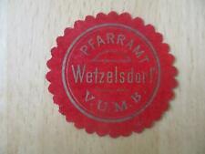(32900) Siegelmarke - Pfarramt Wetzelsdorf