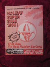 LARRY's Thunderbird & Mustang Parts Presents Holiday Super Sale 1986!!