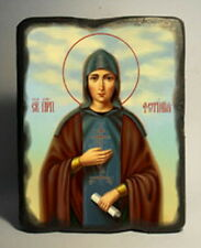 Handmade copy ancient icon ORTHODOX CHURCH Prayer ICON St Photina Svetlana 100S