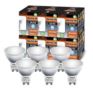 Pack of 6 5W LED GU10 Spotlight Light Bulbs Lamp Cool White Daylight 6500K A 6x