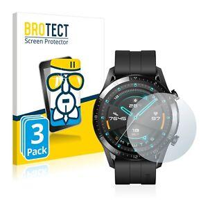 3x Pellicola di Vetro Temperato per Huawei Watch GT 2 (46 mm) Protezione Schermo