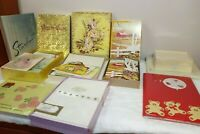 Vintage Stationery LOT Greeting Cards Letter Paper Avon Rockmount 50s 60s NOS