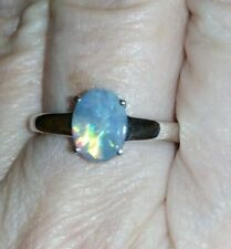 GORGEOUS 100% Genuine BOULDER CRYSTAL OPAL ON IRONSTONE STERLING SILVER RING