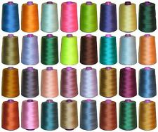 TIGER 120s SEWING THREAD, 100% SPUN POLYESTER, 5000 YARDS X4 CONES, VARIOUS COLS