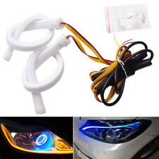 2x 60cm White & Amber Yellow DRL Turn Signal Car LED Daytime Running Light