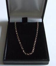 Hallmark 9Ct Gold 2.6 x 1.7 Oval Belcher Necklet Chain 18 Ins Long Lobster Clasp