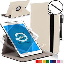 Blanco Giratorio Inteligente Funda Cubierta para Samsung Galaxy Tab S2 9.7 SM-T810 Stylus