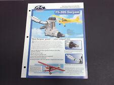 VINTAGE O.S. ENGINES FS-30S SURPASS 4-STROKE R/C PLANE ENGINE BROCHURE *G-COND*