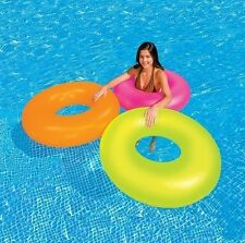 Intex gonflable Neon Gel Tube piscine flottant anneau rose orange vert