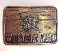 The Daisy 1000 Western Auto 1909-1976 Brass Belt Buckle By Astamar Boston 1970's